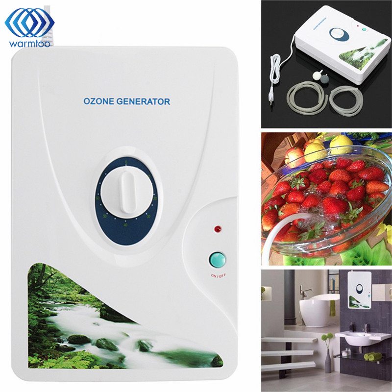 110V 12W 600mg/h Air Purifier Vegetable Fruit Ozone Generator Ozonator Sterilizer Meat Fresh Purify Air Water US Plug цена