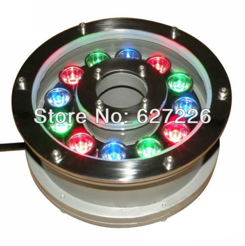 12W RGB Change Color LED Underwater Light DMX512 Control IP68 Waterproof Fountain Lamp Apply Fish Tank Pond Swimming Pool DC 24V jiawen 9w 12w rgb swimming led pool lights underwater lamp outdoor lighting pond lights led piscina lamp dc 12 24v