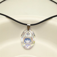 100% Genuine hot charming rope Buddha pendant with Crystal from Swarovski good for Valentine's Day gift