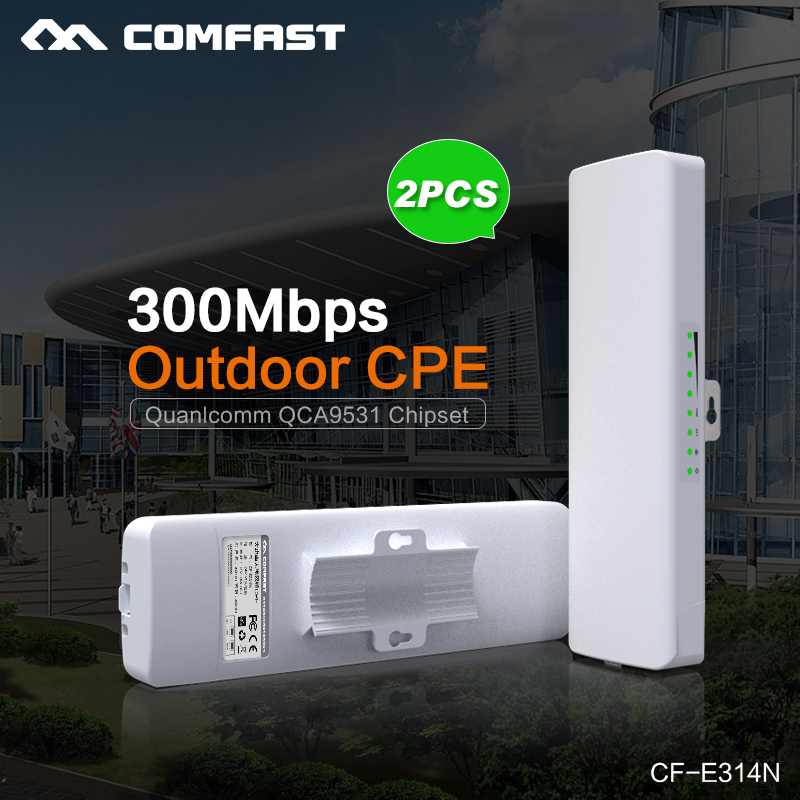 2PCS! Comfast Wireless outdoor CPE WIFI signal booster Amplifier wifi 14dBi Antenna wi fi access point CPEantenna Nanostation