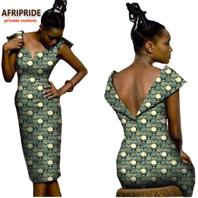 2018 Sexy African Women Dress AFRIPRIDE Private Custom
