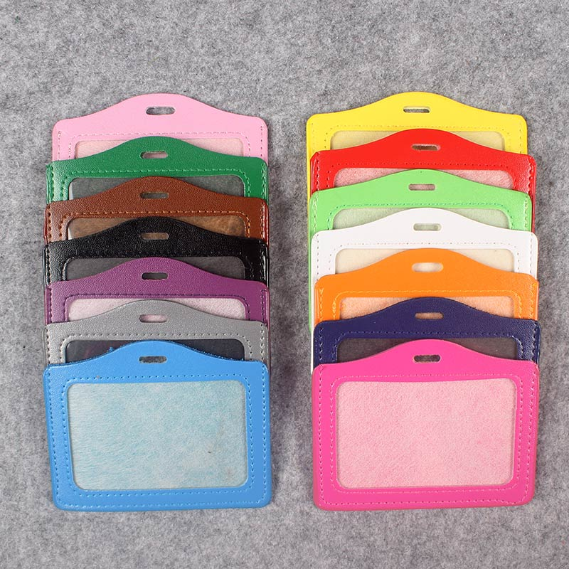 Women And Men PU Card Holder Badge Holder & Accessories Hospital Nurse School Entrance Guard Card & Chest Card Transverse Style