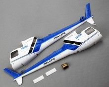 Free Shipping WLtoys V931 RC Helicopter Original Spare Parts Tail Cover Set V931-019 Red Blue 2 Colors