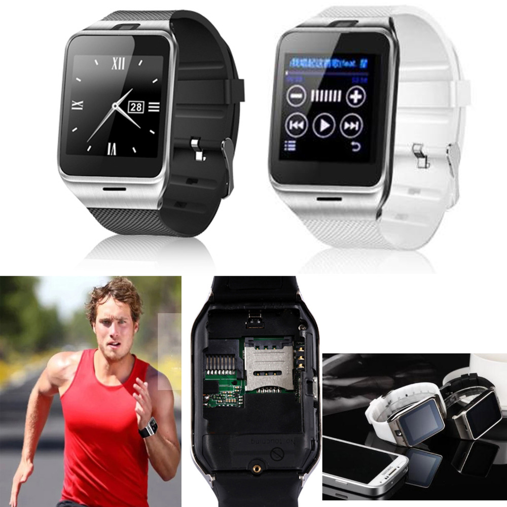 Bluetooth Wrist Smart Watch-telefon för Android LG G5 Samsung S8 Plus S8 S7 S6 Edge S5 Note 4 5 iPhone 7 6S 5S Support TF SIM-kort