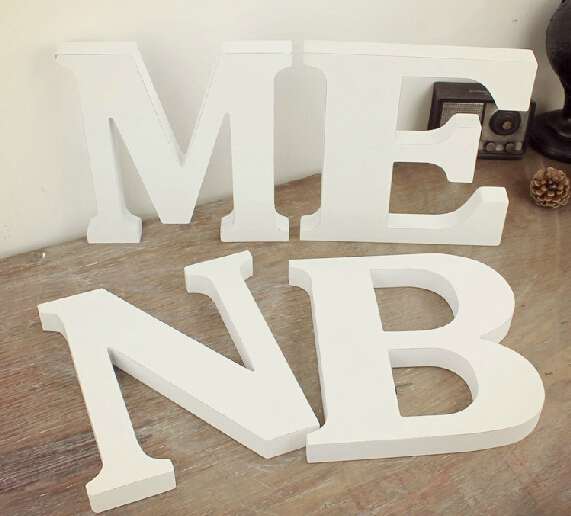 free shipping standing white wooden letter big size alphabet a z to choose wedding props shop decor size 23cm high