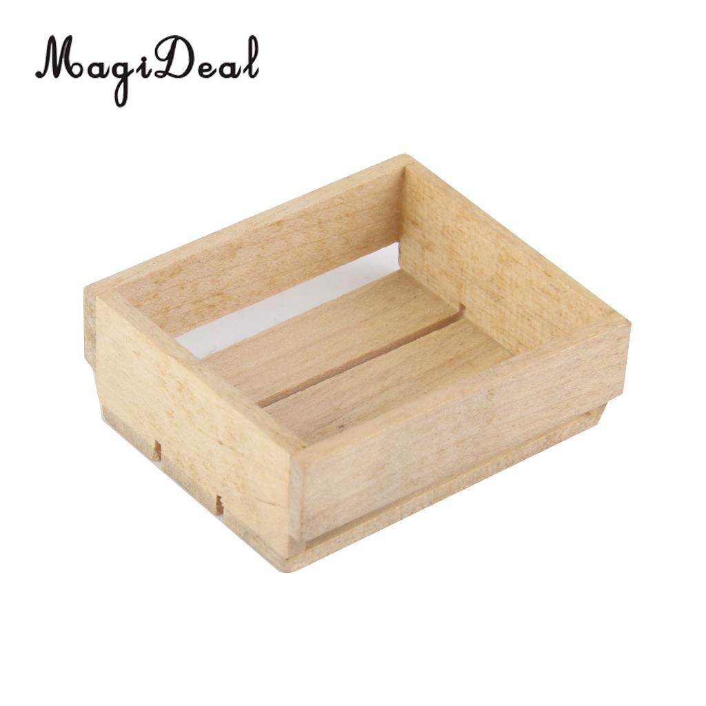 Dollhouse Miniature 1//12 Toy Vintage Wooden Basket Box Kitchen AccessorieO/_ES