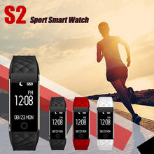 Smart Watch Bluetooth 4.0 LED Waterproof Wrist Watch Bracelet Sport BT V4.0 BLE Display 0.96 inch 64*128 IP67 Swimming(China)
