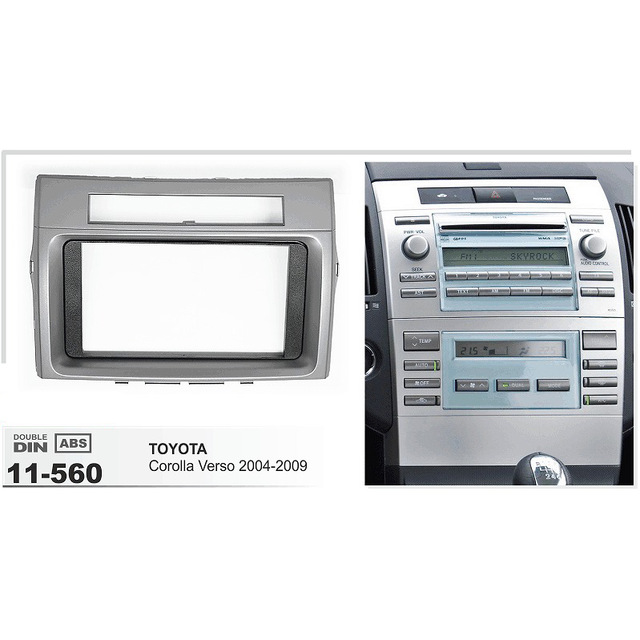 af 11 560 car dvd gps radio fascia panel for toyota. Black Bedroom Furniture Sets. Home Design Ideas