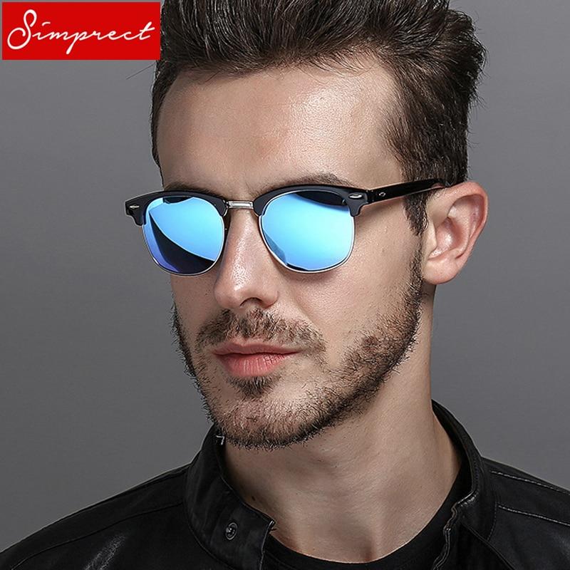 f6599a7dfe SIMPRECT 2019 Retro Sunglasses Men Polarized UV400 High Quality Square HD  Mirror Sun Glasses Vintage Lunette