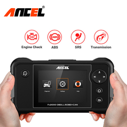 Ancel FX2000 Four System OBD2 Auto Scanner Engine/ABS/SRS/Gearbox ODB2 Automotive Car Diagnostic Scanner Tool Free Update