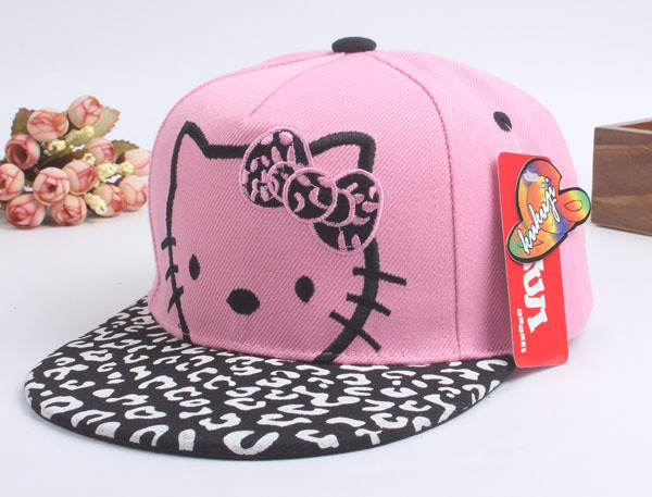New Pattern Children   Cap   Cartoon Kitty Girl Hip Hop Hat Parent-child   cap   Outdoors   Baseball     Cap