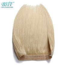 BHF 110g Straight Machine Made Remy Halo Hair Flip in Human Hair Extensions One piece Set Non-clip Fish Line Hair(China)