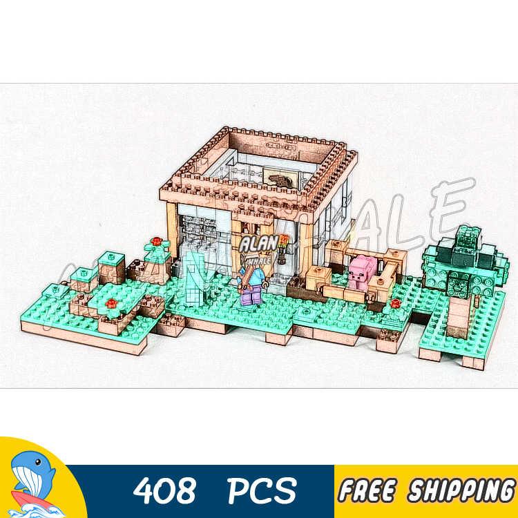 408 шт. Мой Мир первая ночь Приключения приют 10176 модель строительные блоки Детские Кирпичи совместимы с Lago Minecrafted