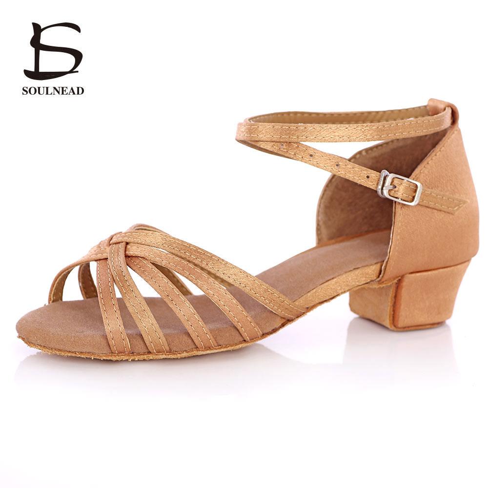 New Ballroom Tango Latin Dance Shoes High Quality Latin Woman Dancing Shoe Wholesale Dance shoes for girls Low Heel Salsa Sandal