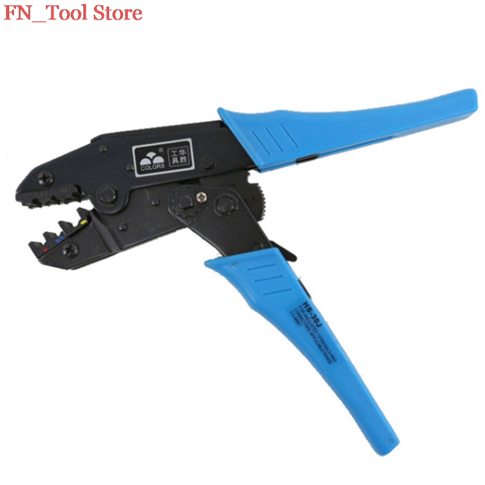 все цены на FASEN Free shipping HS-30J wire stripper EUROP STYLE ratchet crimping tool crimping plier 1-6.0mm2 multi tool онлайн