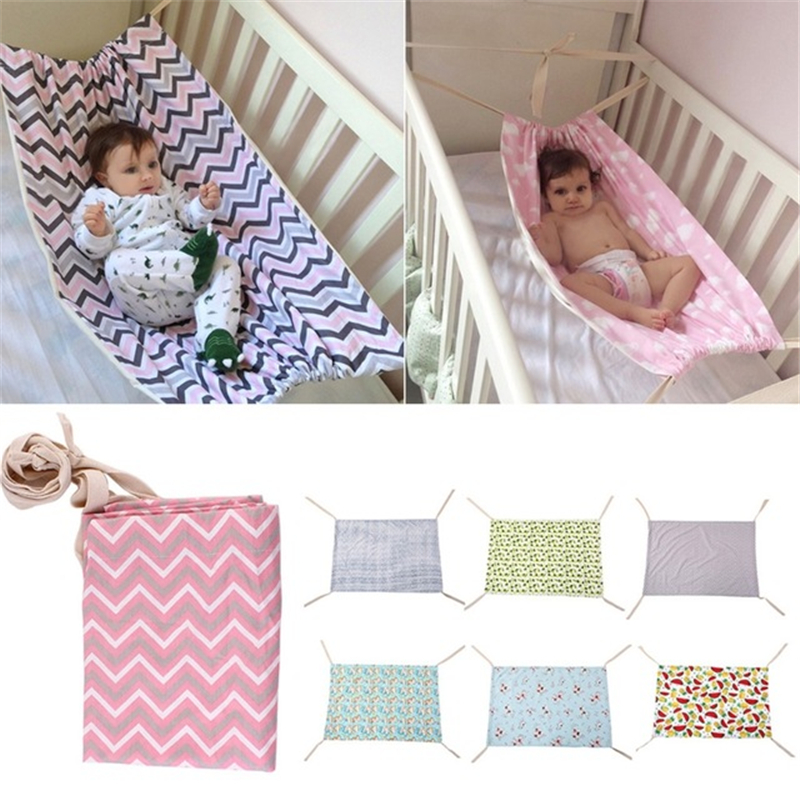 Infant Baby Hammock For Newborn Kid Sleeping Bed Safe Detachable Baby Cot Crib Elastic Hammock With Adjustable Net Sleeping Bed