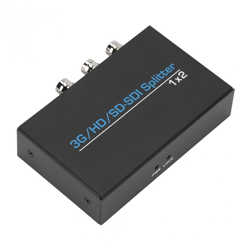 1X2 3G Hd Sd Sdi Video Splitter Combo Box Bnc 1 In 2 Out Distributor 1920x1080p For Hdtv(Eu Plug)