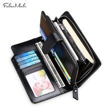 Hot Sale Wallet Genuine Leather Wallet MEN New Male Wallet Long Leather Wallet Brand Purse Coin Purse  Men Purse Male Clutch