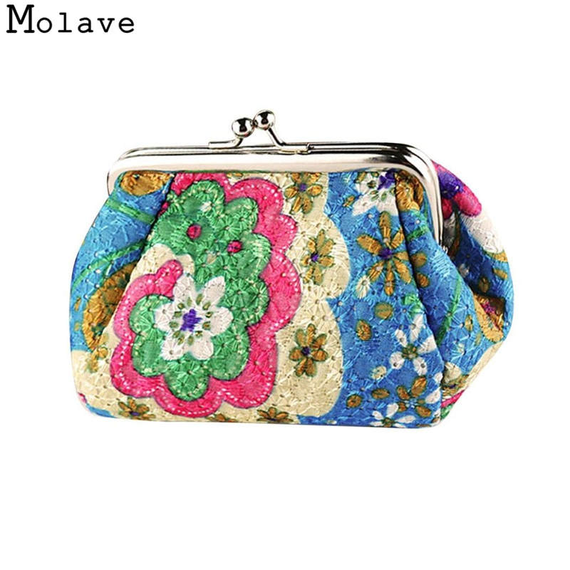 Naivety Polyester Coins Purses Flower Printing Coin Purse Small Hasp Wallet Floral Prints Portable Bag 50S71213 drop shipping цена