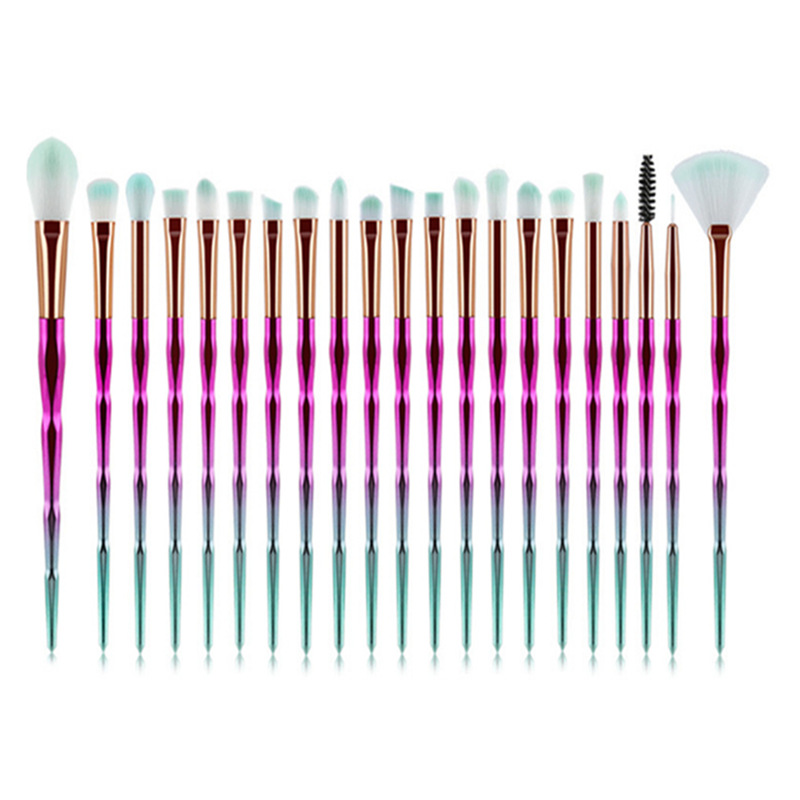 Brushes-Set Cosmetic-Tools Makeup-Brush Spiral Diamond 20pcs Gradient Colorful