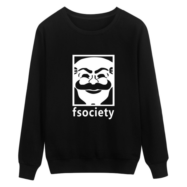 Mr Robot Fsociety Hip Hip Style Harajuku Sweatshirt Men in Mens Hoodies and Sweatshirts Brand 3xl 4xl
