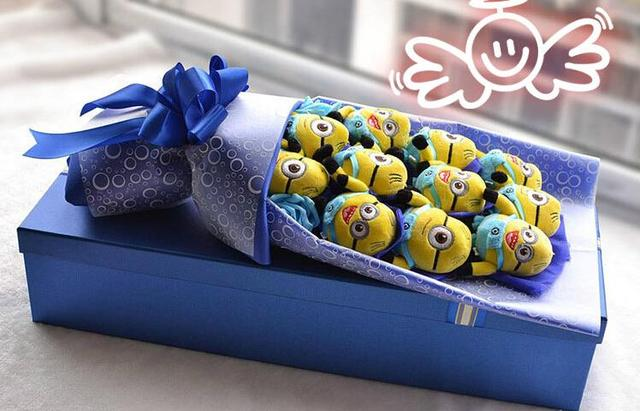 Hot Selling 11 Minions Bouquet For Valentine S Day Love Gift