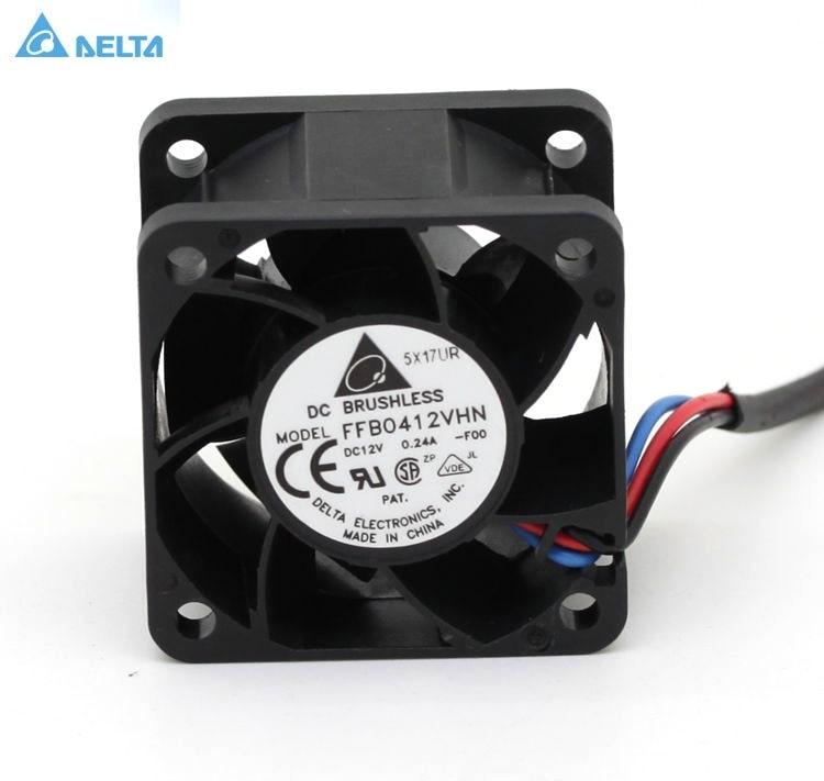 Delta FFB0412VHN 40 * 40 * 28mm 4cm 40 mm ventilators DC 12V 0. 24A kvalitātes nodrošināšana