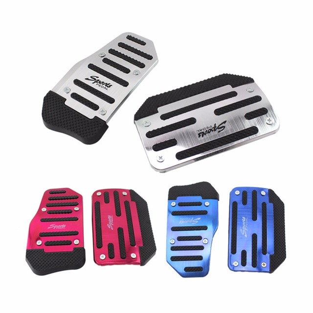 Universal Aluminium Alloy Non-slip Automatic Car Auto Vehicle Accelerator Brake Foot Pedal Cover Pad, Automobiles Replacement