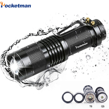 4000LM Mini LED Flashlight Q5 T6 LED Torch Adjustable Focus