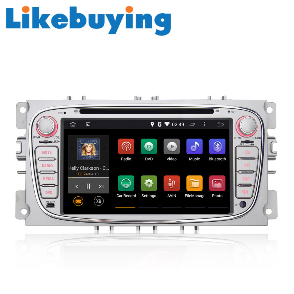 buy likebuying 7 39 39 android 4 4 4 autoradio 2 din car stereo dvd gps head unit. Black Bedroom Furniture Sets. Home Design Ideas