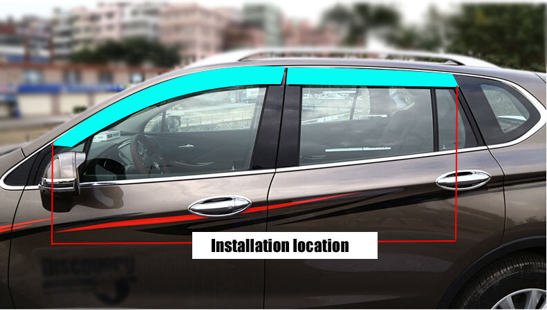 Auto rain shield window visor car window deflector sun visor covers stickers 10