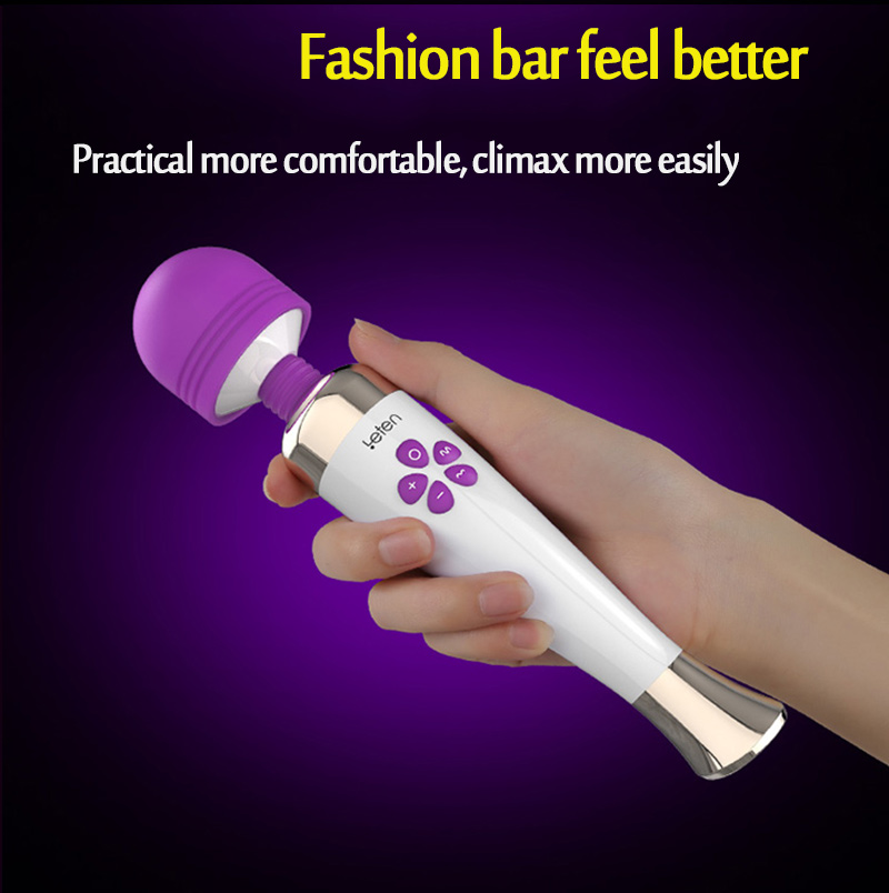 LETEN Vibrators Sex toys for woman Powerful AV Magic Wand G-Spot Waterproof Rechargeable Female Adult sex Products 15