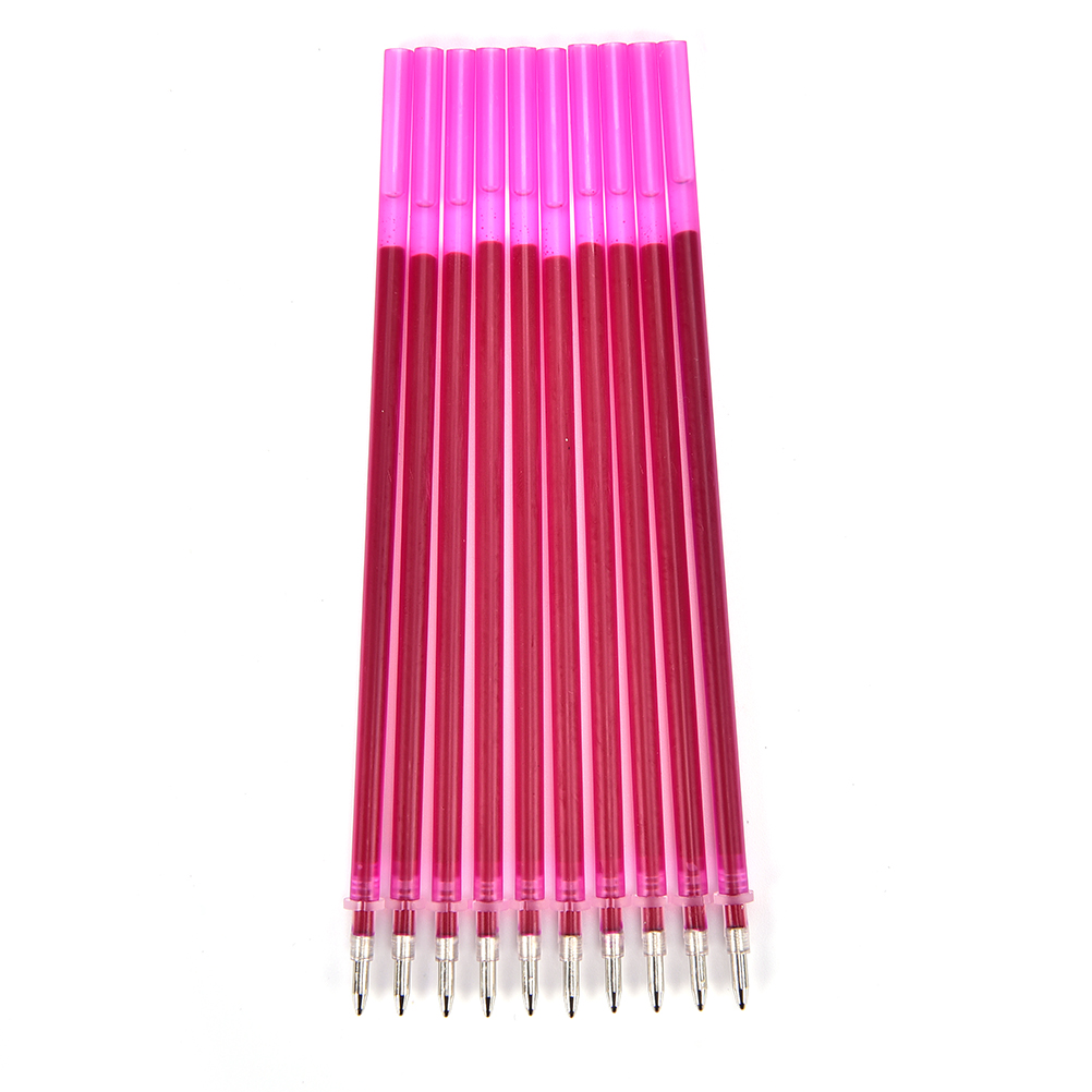 10Pcs Heat Erasable Refill Pens High Temperature Disappearing Fabric Marker Pen For Patchwork Fabric PU Leather Mark Sewing Tool