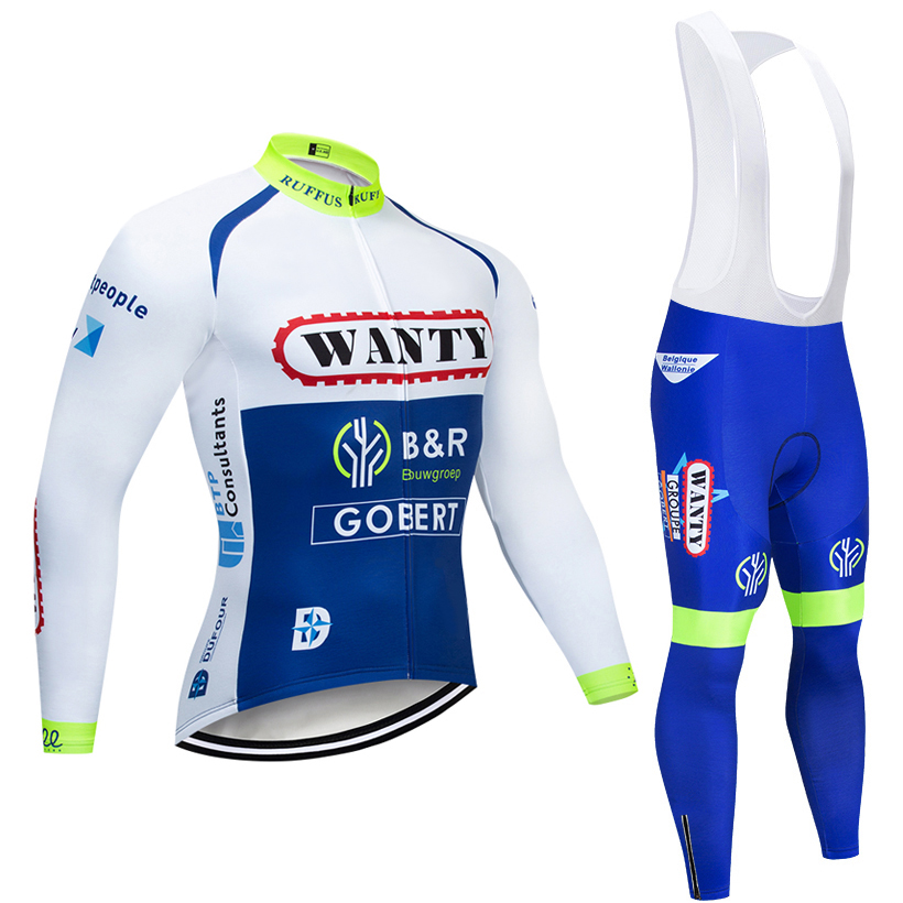 2019 WANTY TEAM CYCLING JACKET 12D bike pants set Ropa Ciclismo MENS winter thermal fleece pro