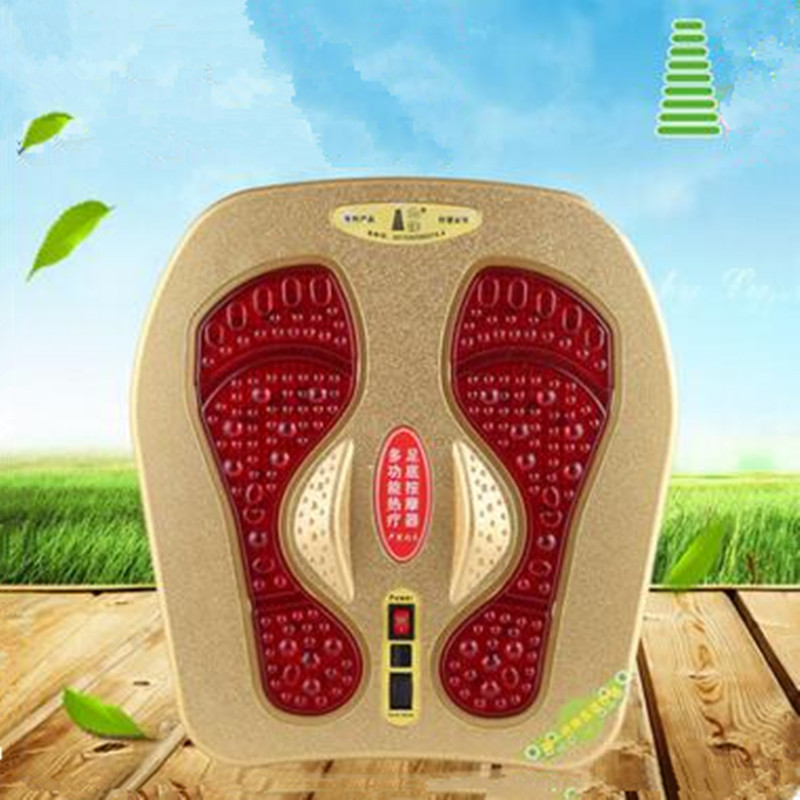 Massage far infrared foot massager vibration magnetic wave heating physiotherapy foot pedicure health care machine chronic prostatitis treatment cushion far infrared heat plus vibration massage therapy for prostate discomfort relief