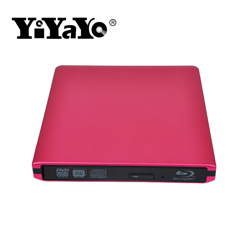 YiYaYo Bluray Player External DVD-RW Optical Drive USB3.0 External Blu-ray Drive BD/ DVD ROM Player Writer for Macbook Laptop bluray player external usb 3 0 dvd drive blu ray 3d 25g 50g bd rom cd dvd rw burner writer recorder for windows 10 mac os linux