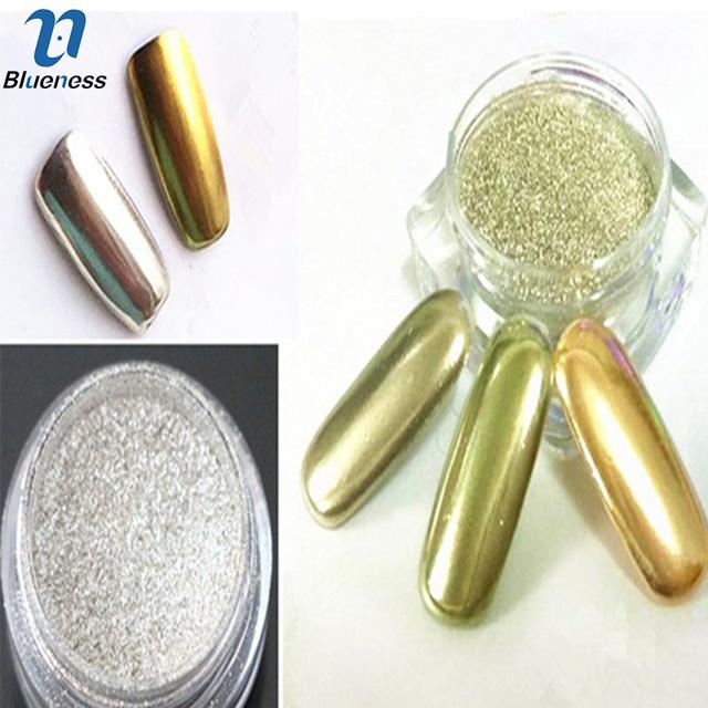 1g/Box  Nail Glitter Powder Gold Sliver Shinning Mirror Nail Art Chrome Mirror Powder Manicure Pigment Glitters JH420