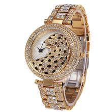 Casual Dames Montres 2016 Quartz Étanche NOBDA Top Marque De Luxe Lady Montre-Bracelet Femmes Cristal Diamant Tigre Pour Les Femmes Horloge