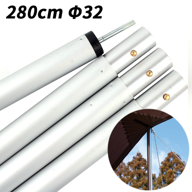 US $26 55 5% OFF 1 pc Bold aluminum tent pole Outdoor large sunshade tent  support rod 22mm/32mm thick retractable canopy pole-in Tent Accessories  from