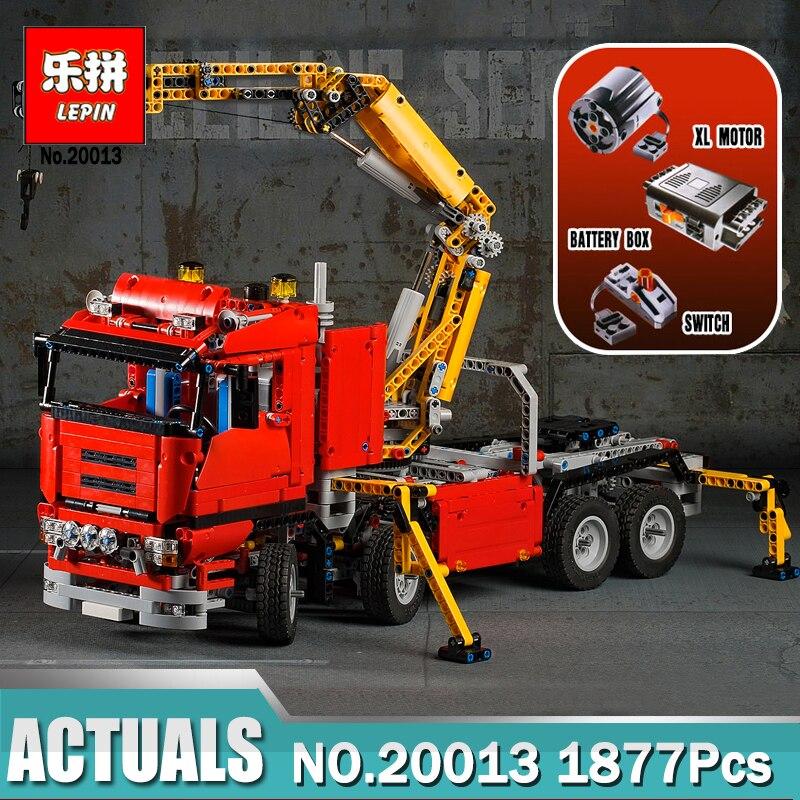 Lepin Technique grue électrique Camion 20004 20005 20013 Modèle blocs de construction Briques Compatible LegoINGlys 8258 42009 Grue Camion