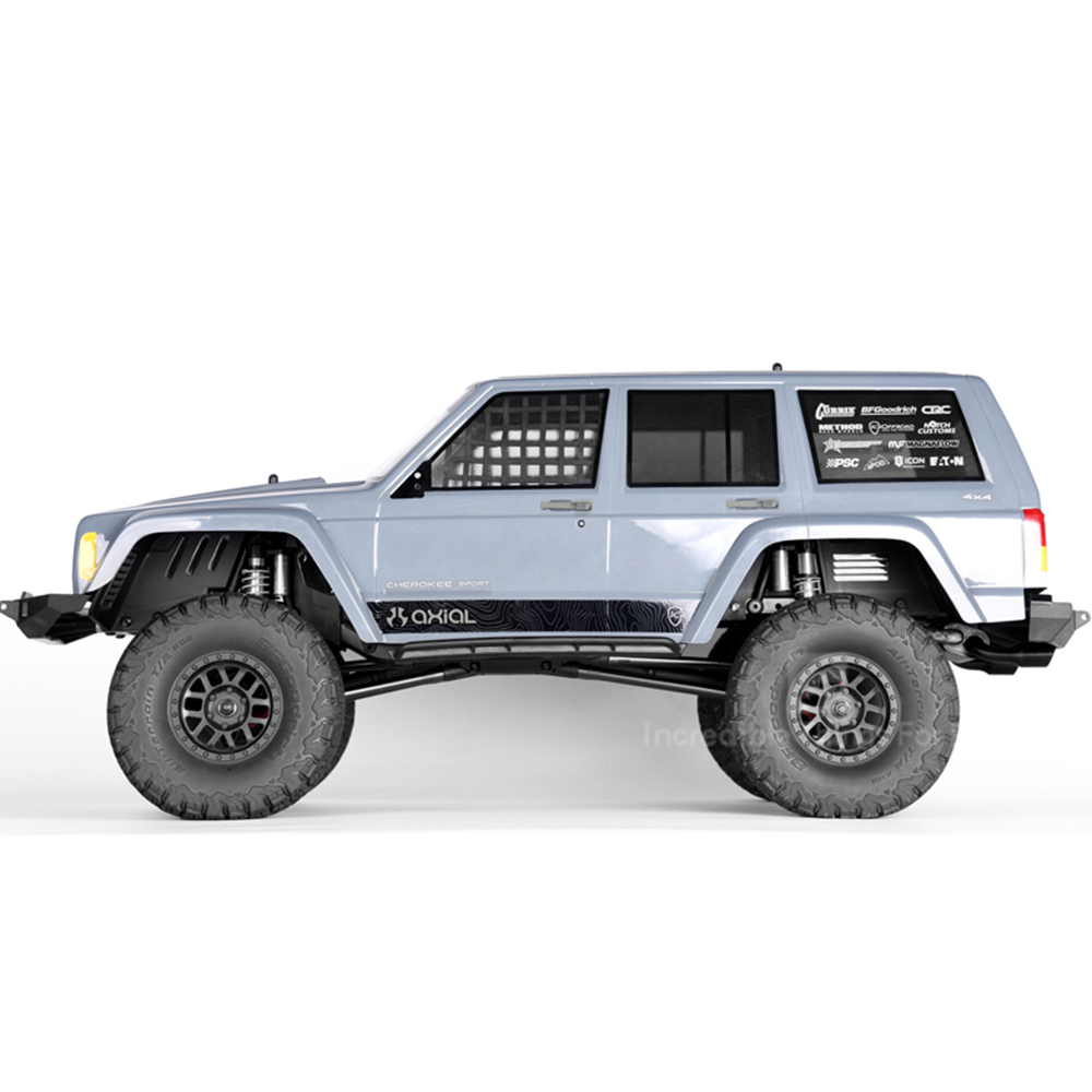 Image 4 - INJORA Black Plastic Front&Rear Mud Flaps Fender for 1/10 RC Crawler Axial SCX10 II 90046 90047Parts & Accessories   -