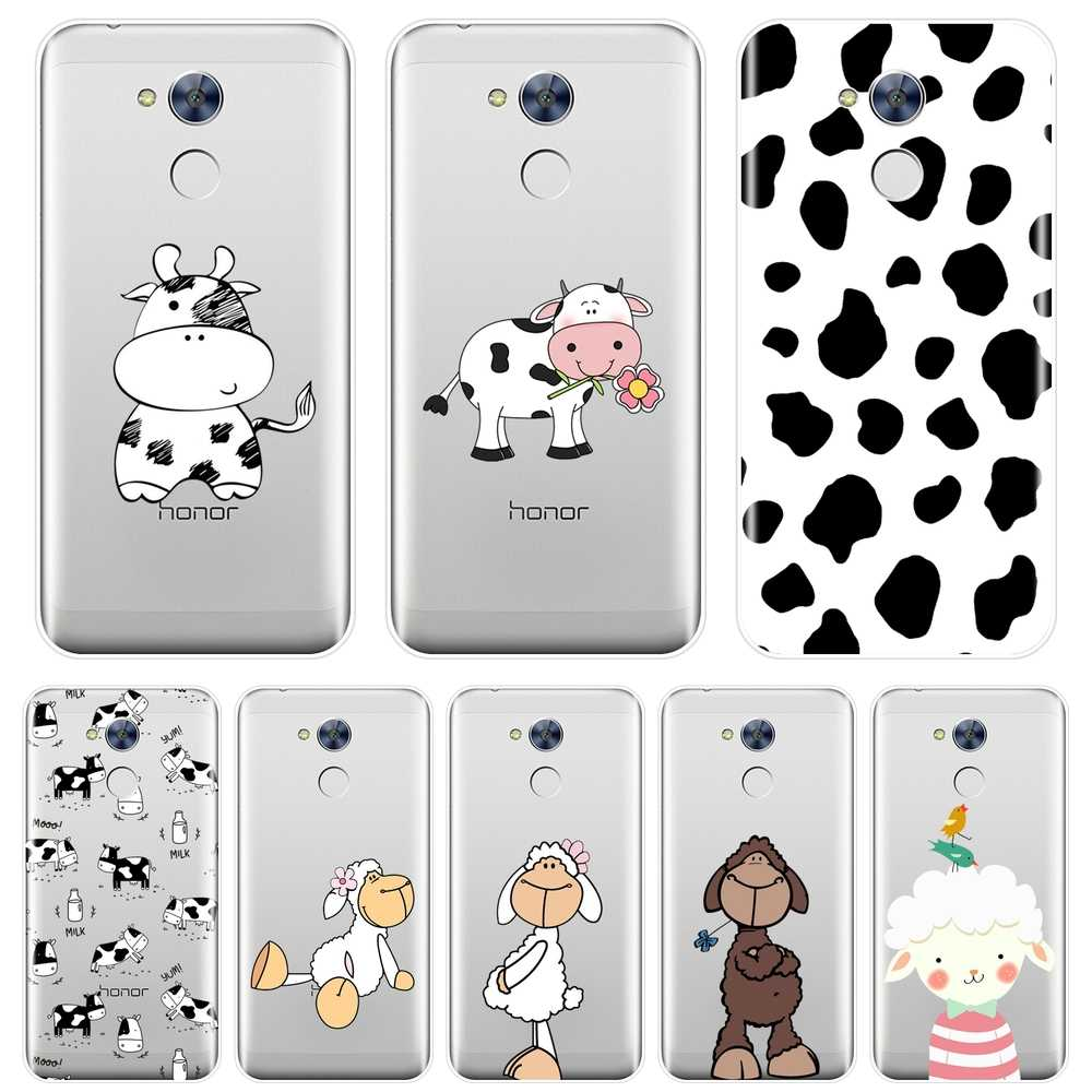 Phone Case Silicone For Huawei Honor 6A 4C 5C 6C Pro Cow Sheep Animal Goat Soft Back Cover For Huawei Honor 6 5A 4X 5X 6X Case