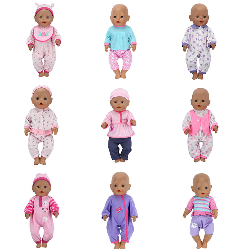 2pcs/set, The Hat+Suit Wear For 43cm Zapf Baby Born Doll 17 Inch Reborn Babies Clothes