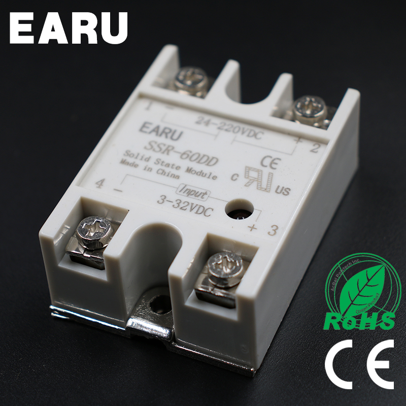 1 pcs Solid State Relay SSR-60DD 60A 3-32V DC Input TO 24-220V DC SSR 60DD SSR-60 DD Industry Control Factory Wholesale Hot normally open single phase solid state relay ssr mgr 1 d48120 120a control dc ac 24 480v