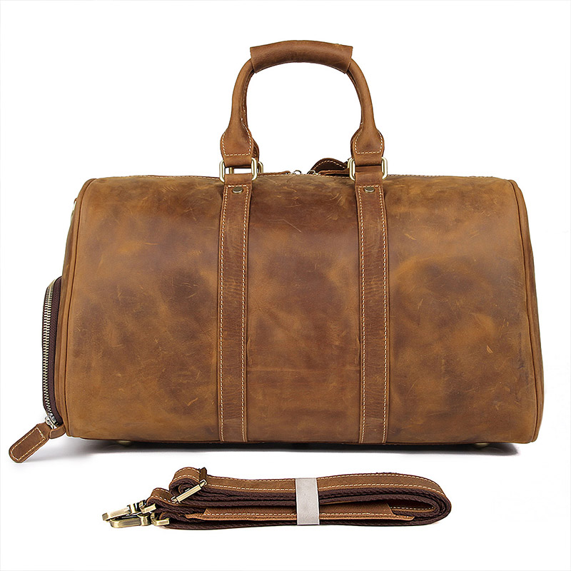Mens Big Capacity Travel bag Durable Crazy Horse Leather Travel Duffel Real Leather Large Shoulder Weekend Bag X-7077 Mens Big Capacity Travel bag Durable Crazy Horse Leather Travel Duffel Real Leather Large Shoulder Weekend Bag X-7077