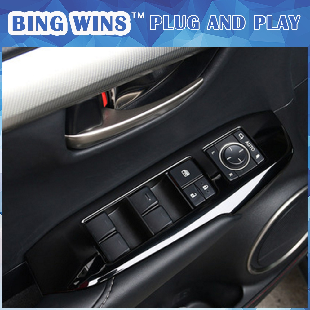 4pcs/set Door Window Switch Lift Cover Botton Panel Trim Car-Styling For LEXUS NX200t NX300h decorate car covers Accessories 2016 mini clubman one coopers side door power window switch center console panel covers accessories car stickers for f54 6 door page 7