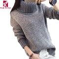 Winter  Knitwear Loose  Women Sweater Long Sleeve Jumper Pullover Turtleneck Oversize Casual Ladies Tops MF109
