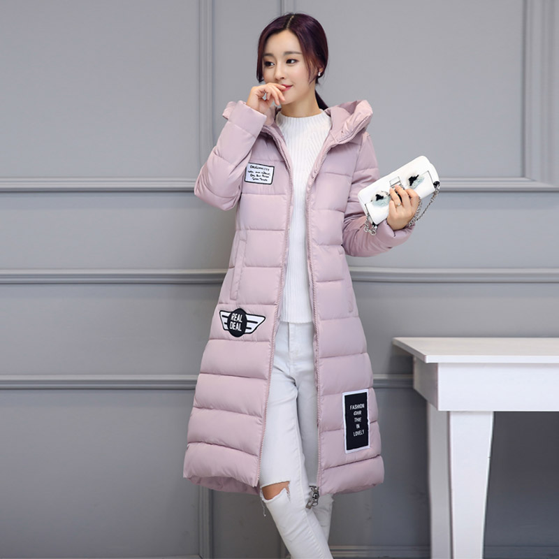 Women's cotton-padded jacket Keep warm winter thicken long slim down parka high quality plus size hooded female coat clothes europe new 2015 winter warm long duck down jacket coat women high quality hooded thicken plus size windproof parka ae714