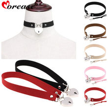 Morease Bondage Punk Lock With Key Collar Women Sexy Necklace Slave Restraints Cosplay Fetsih Erotic Wear Sex Toy Product(China)