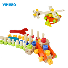 Baby toys for children wooden game car hot wheels kids toy vehicle DIY tool for boy gift-84pcs